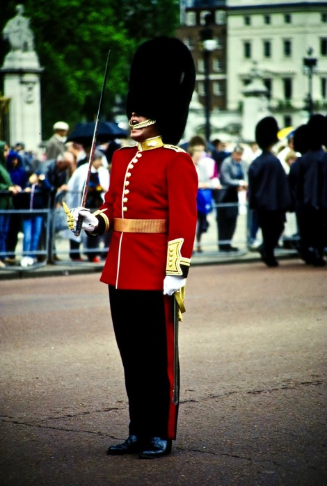 """Trooping the Color"" - England. On the Queen's birthday."